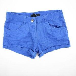 Forever 21 Women's Mini Shorts Cotton Size XS Blue